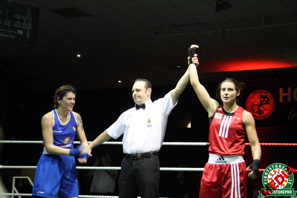 Peerless Katie Taylor wins Irish title against exciting Shauna O'Keeffe