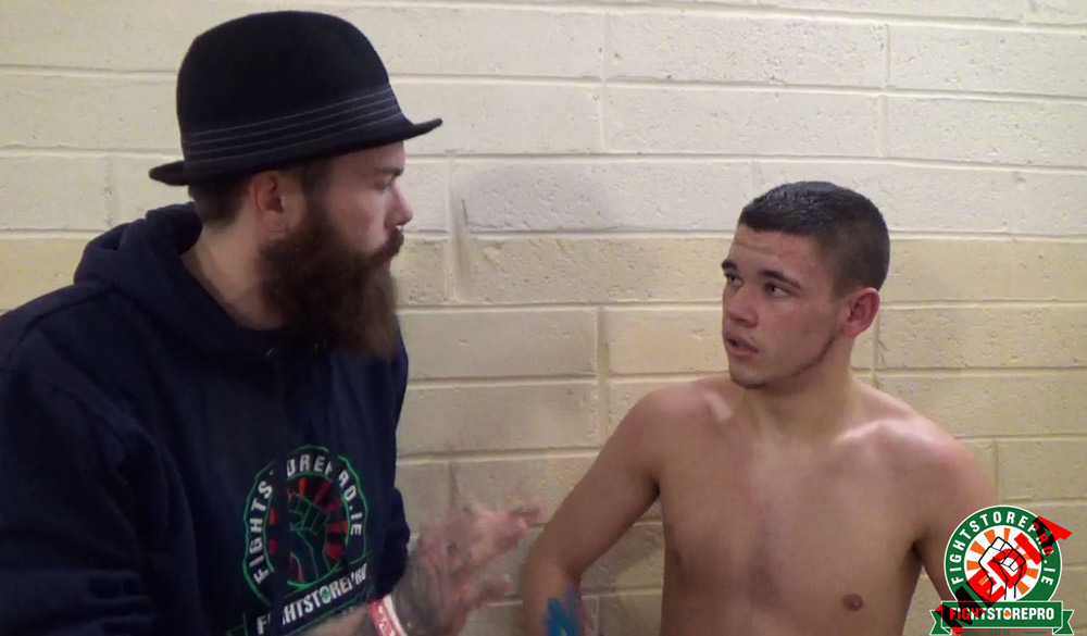 Conor Keogh talks to Fightstore Media at the Takeover 6