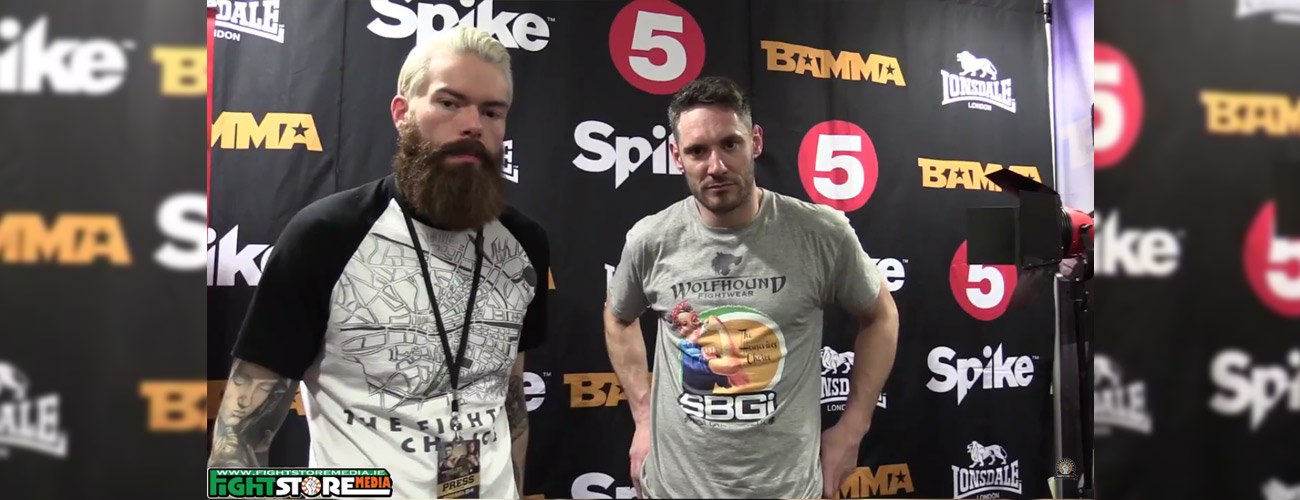 Chris 'The Housewives Choice' Fields post fight interview at BAMMA 24.