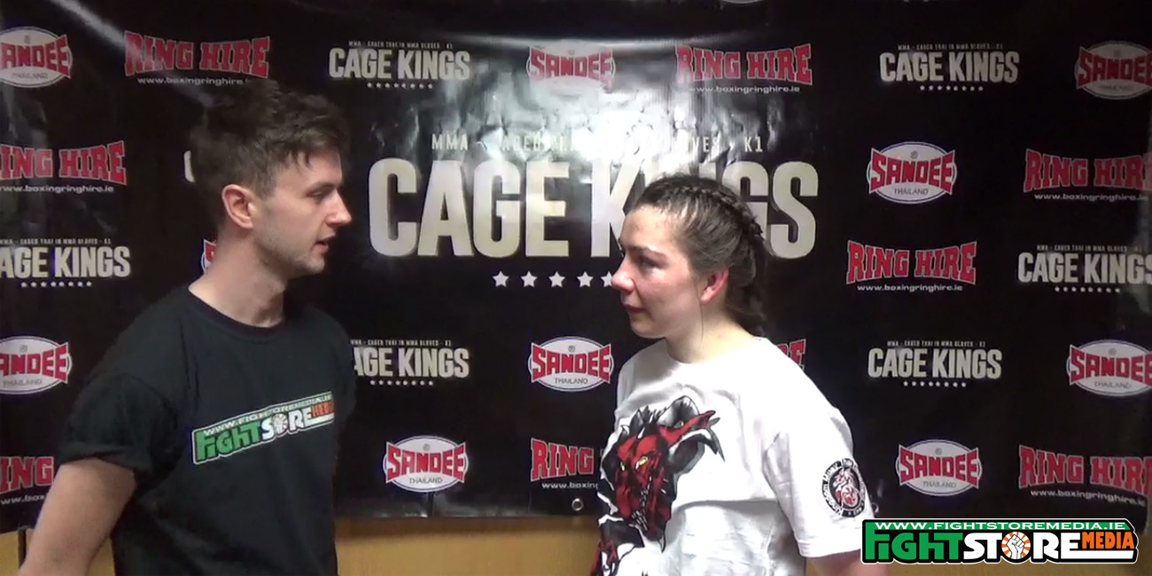 Eimear Codd post fight interview at Cage Kings Dublin
