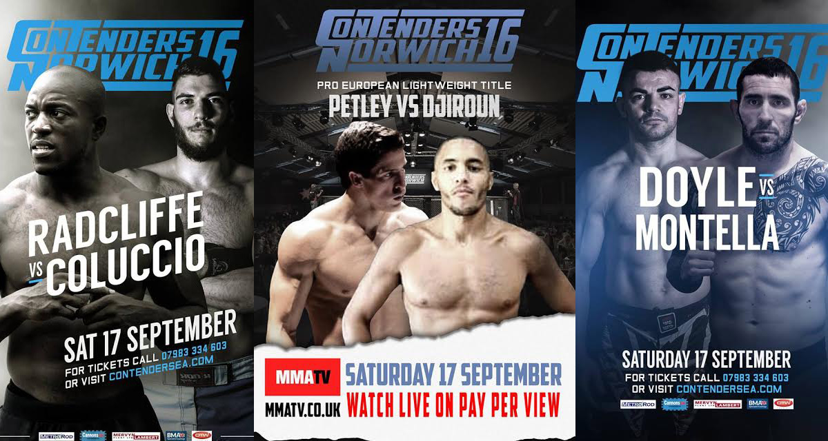 Contenders Norwich 16 - Fight Card & Stream