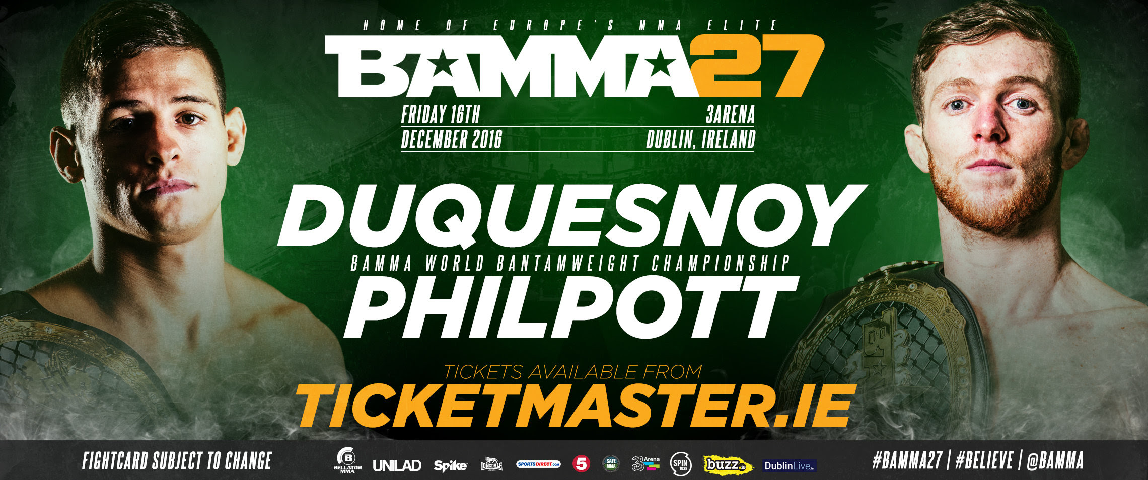 BAMMA & Bellator Join Forces For A huge December Show In Dublin