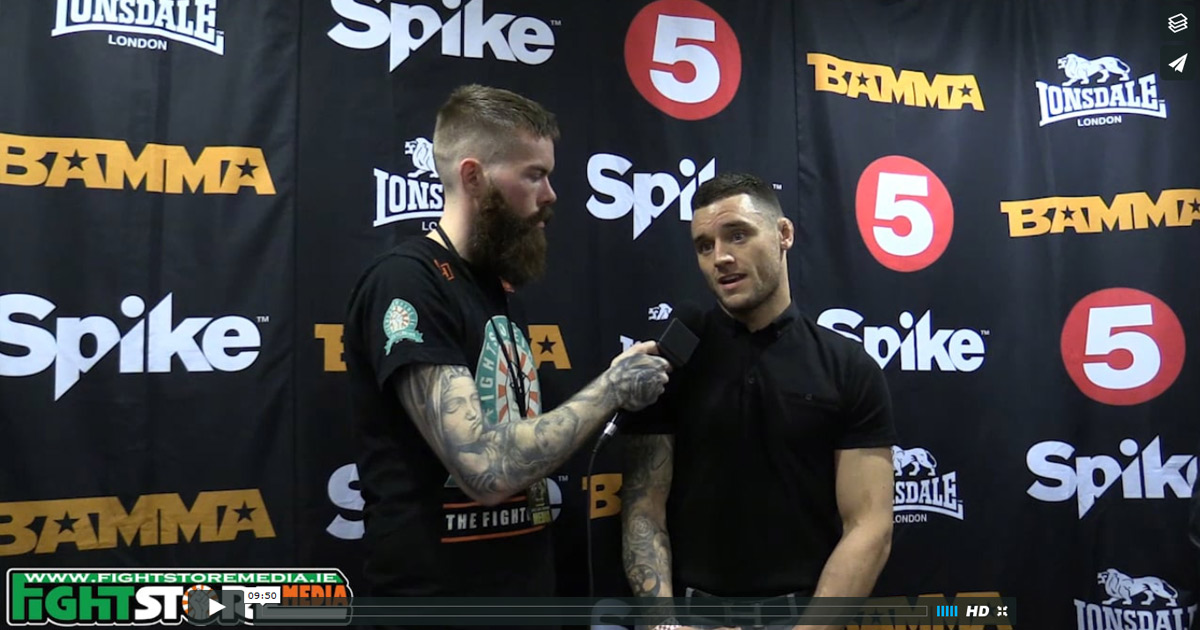 Post fight interview with Kiefer Crosbie at BAMMA27 / Bellator 169