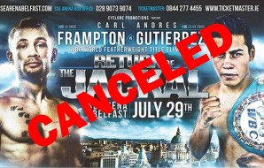 Breaking News: Return of The Jackal boxing event cancelled!