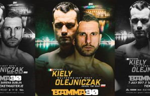 Richard Kiely thinks Daniel Olejniczak is 'either really stupid or telling lies' if he plans to trade shots with him at BAMMA 30